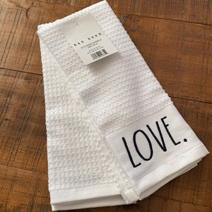 """Rae Dunn """"Love & Family"""" Kitchen Towels"""